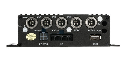 mini realtime sd coche móvil dvr 4ch vídeo / audio