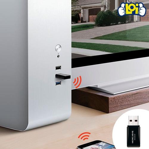 mini receptor wifi usb mercusys mw300um inalám 300mbps loi