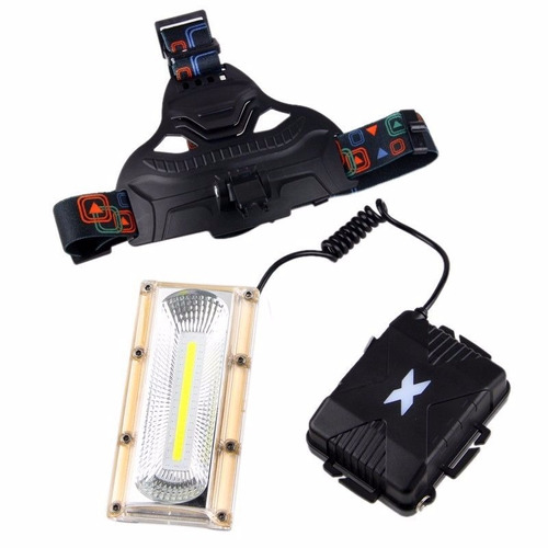 mini reflector.lámpara minero 8000 lumens cob.manos libres