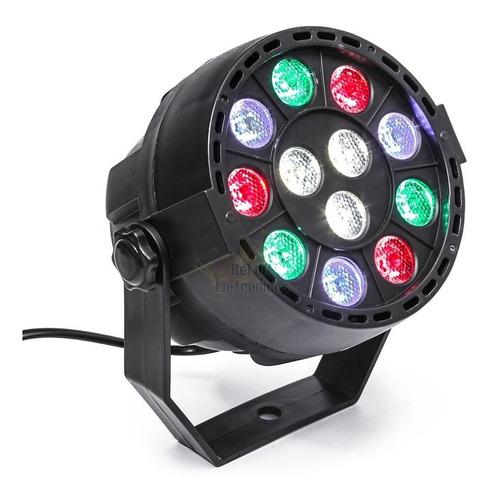 mini refletor par 12 leds digital strobo dmx efeito rgbw