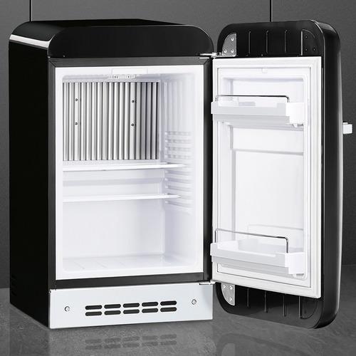 mini refrigerador / nevera retro smeg linea años 50 negro