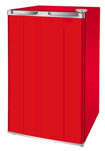 mini refrigerador-rojo-3.2 cu, nevera-congelador-frigobar