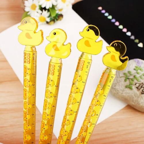 mini regla kawaii de pollito 12 cm
