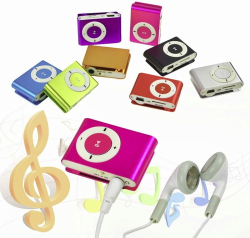 mini reproductor mp3 c/ auriculares y cable slot micro-sd