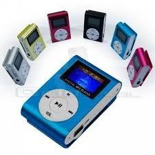 mini reproductor  mp3 con pantalla lcd radio fm micro sd