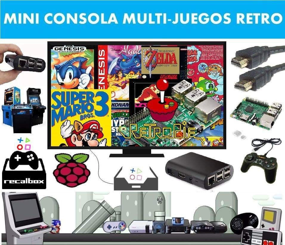 Mini Retro Arcade 64gb Hdmi 22 Mil Juegos Mame Family 5 300 00