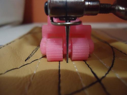 mini rodachin, coser semicuero, maquina industrial-domestica