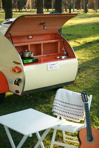mini rodante - teardrop trailer diseño americano (único)