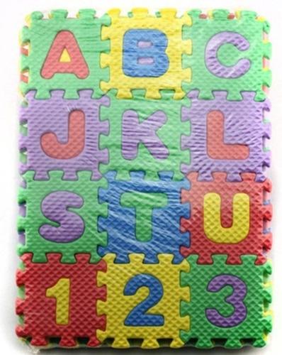 mini rompecabezas tapete foamy 36 piezas alfabeto y números