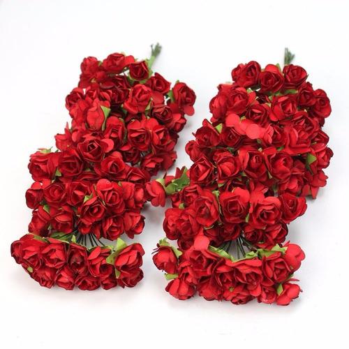 mini rosas c\144 mini vermelhas a bela e a fera papel