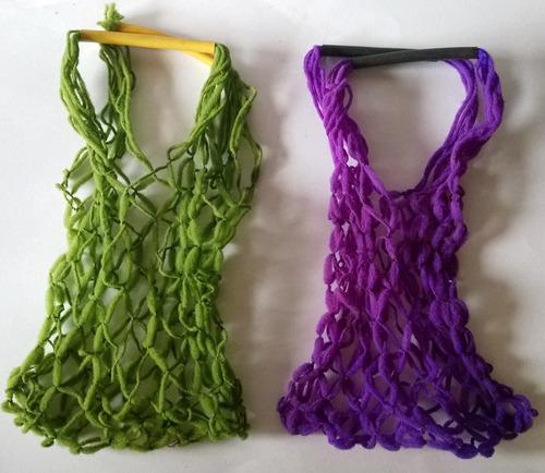 mini sacolas de lã - cada  nº 1126g