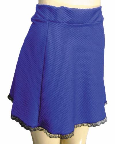 mini saia devasa com renda barra pronta entrega novidade