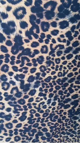 mini saia estampa animal print (onça)