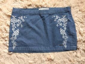 4074230448 Mini Saia Jeans Feminina Abercrombie Camisetas Hollister Gap