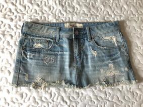 0fa94010b1 Mini Saia Jeans Hollister - Calçados