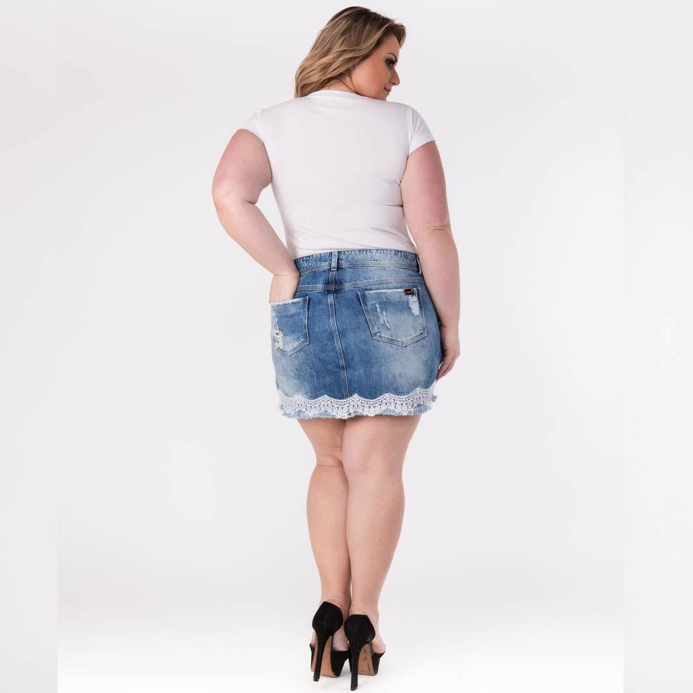 5cc8e176a mini saia jeans plus size moda gordinha tamanhos grandes. Carregando zoom.