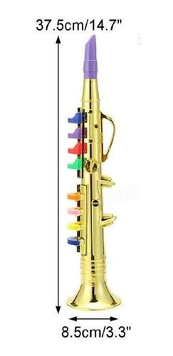 mini saxofone infantil clarinete flauta acustico musical