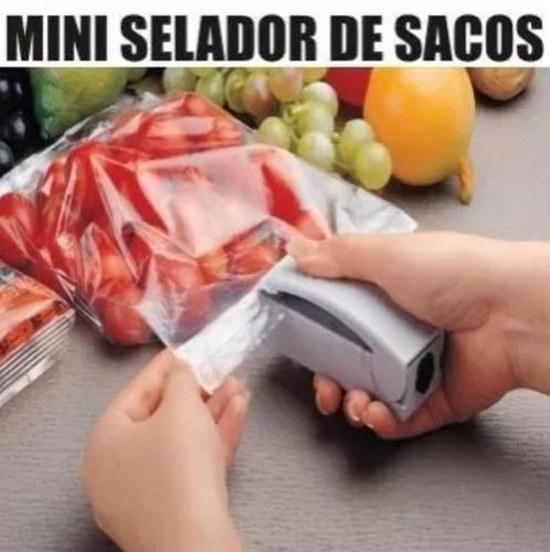 mini seladora de embalagens plásticos - frete grátis