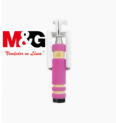 mini selfie stick bluetooth rosado coolbox