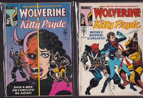 mini serie wolverine e kitty pryde em 2 ediçoes - abril