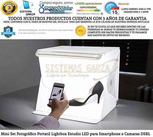 mini set fotográfico portatil lightbox estudio led para dsrl