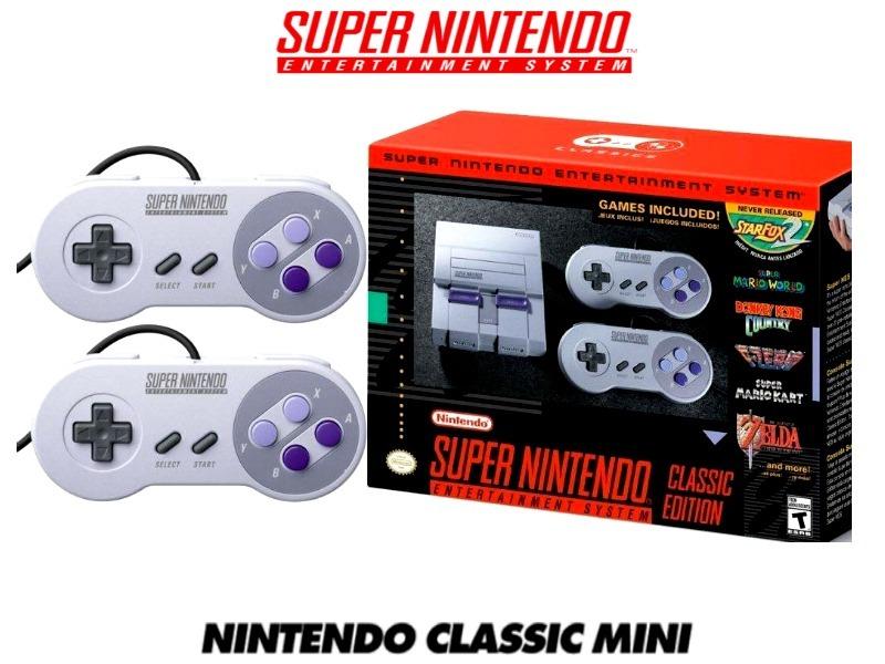 Mini Snes Classic Super Nintendo 21 Juegos Envio Gratis