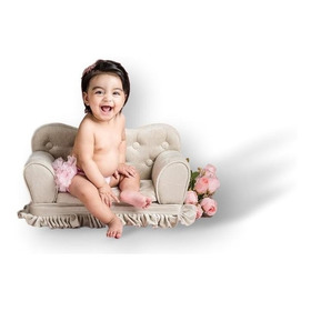 Mini Sofá De 2l.c/ Babado 001 Fotografia Newborn& Acomp