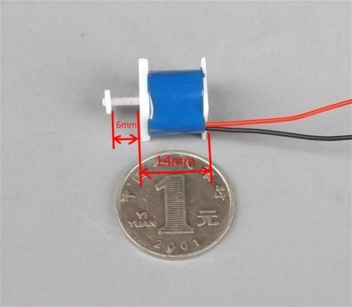 mini solenoide dc 5v plástico 1w relê push pull arduino