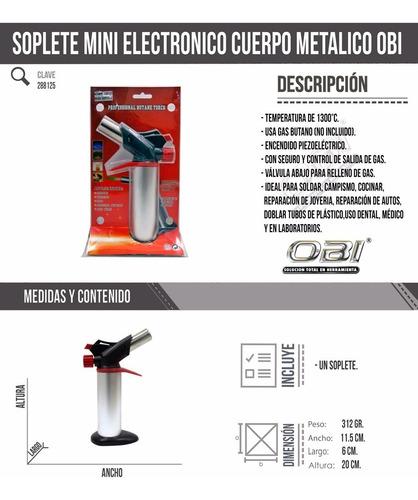 mini soplete gas butano recargable soldar cocinar uso dental