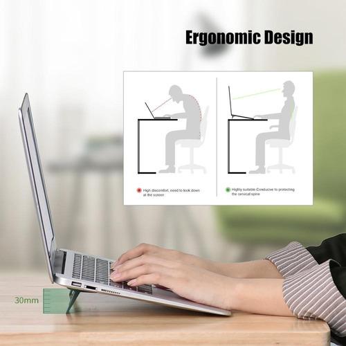 mini soporte para notebook. mejora ergonomía y ventilación.