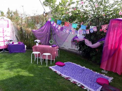 mini spa + candy bar + taller de pulseras + regalo+ 12 niñas