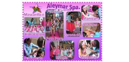 mini spa d niñas a domicilio fiesta temática spa aleymar spa