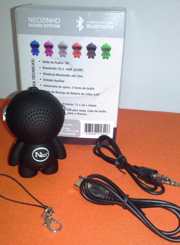 mini speaker bluetooth - boneco oferta