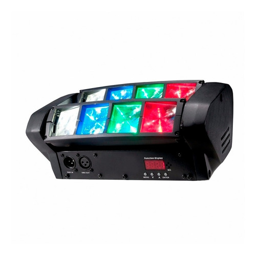 mini spider cabezal movil doble barra led 8 x 3 w rgbw