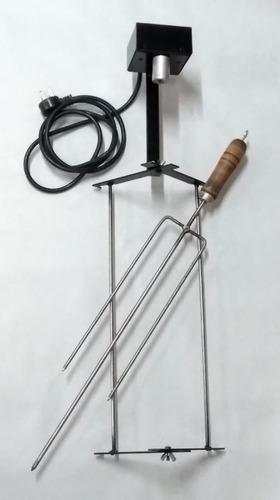 mini spiedo rotativo accesorio adaptable parrilla portatil