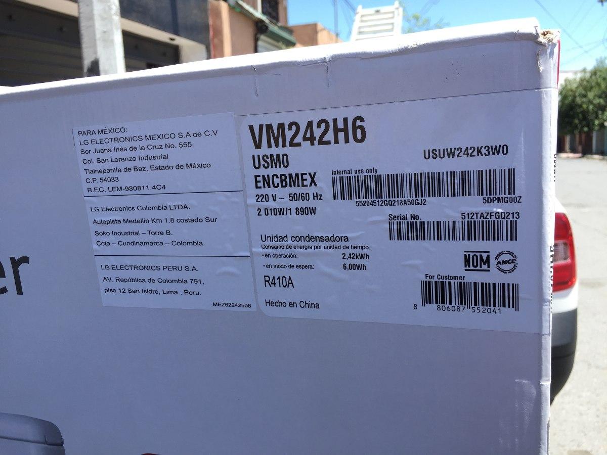 Mini Split Inverter Lg 2 Toneladas Vm242h6 18 Seers