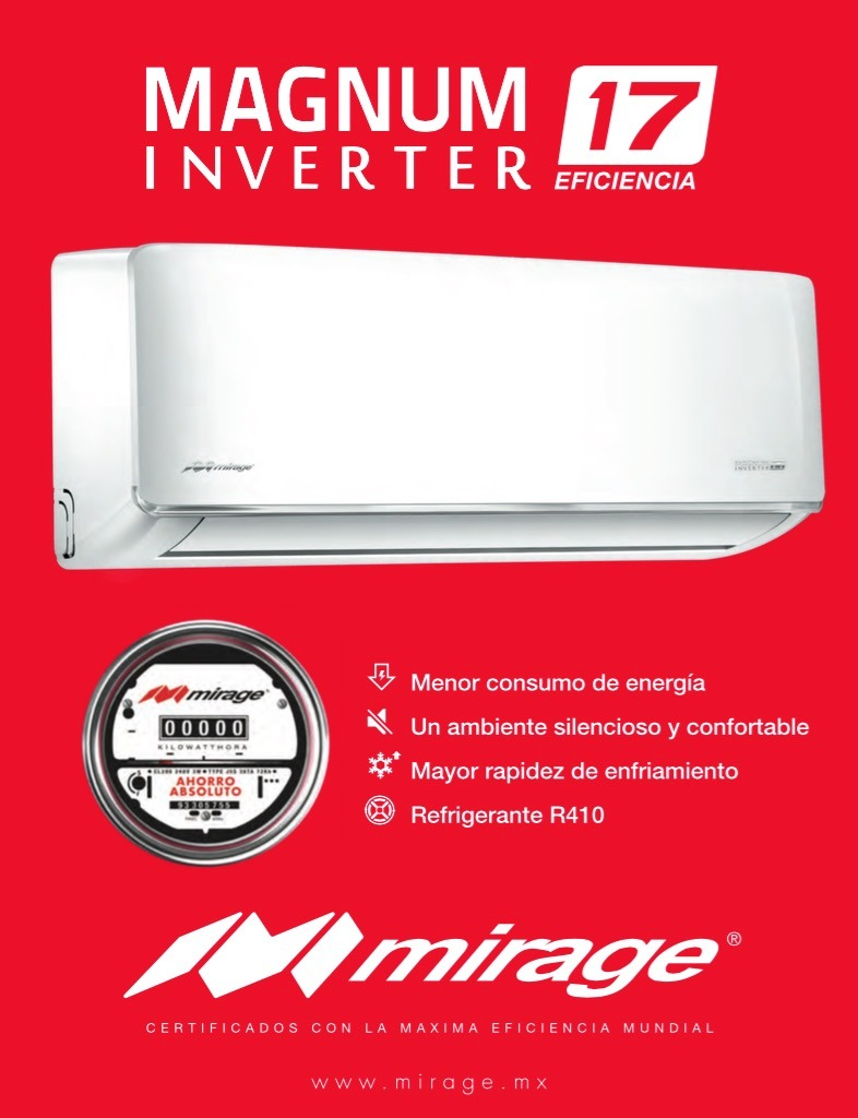 Mini Split Inverter Mirage 1 5 Tonelada 220v Envio Gratis