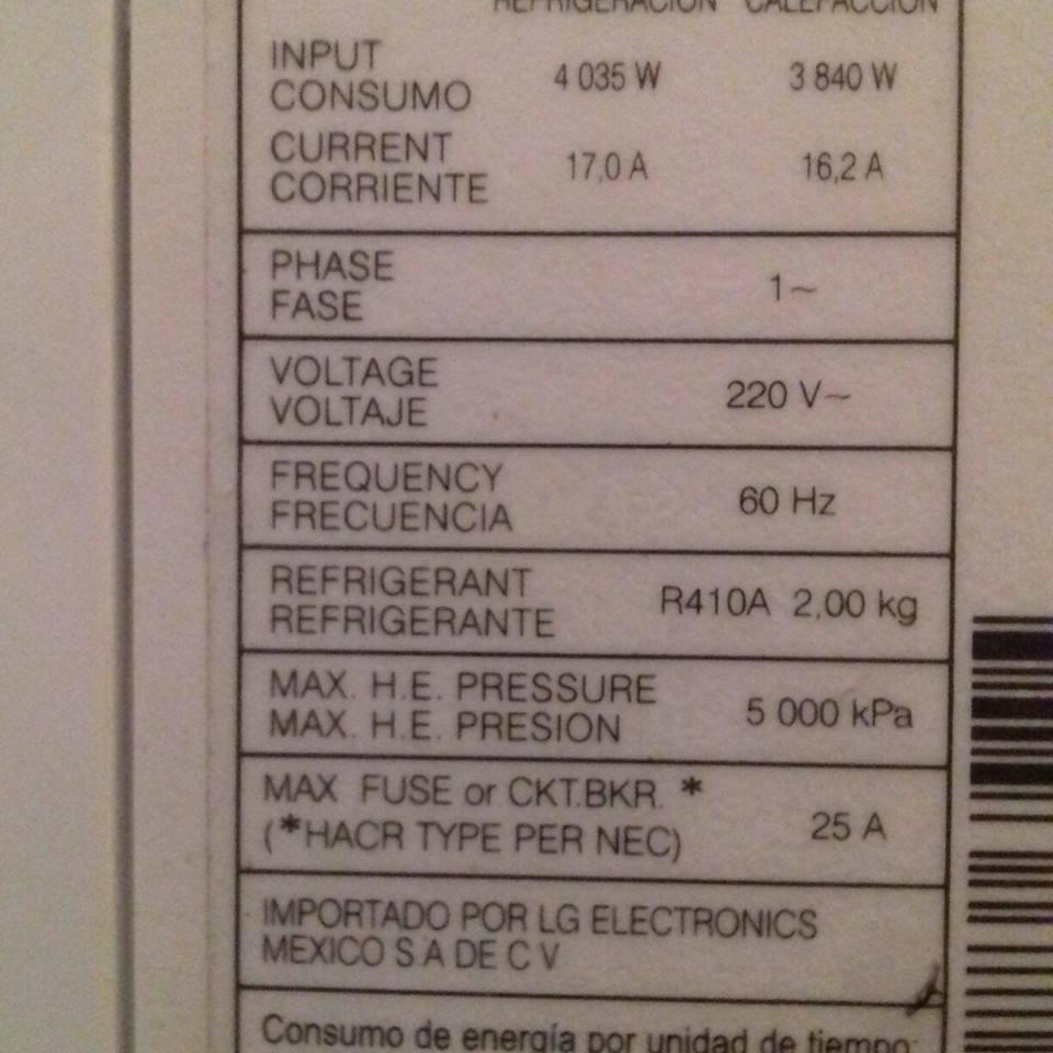 Mini Split Lg Inverter 3 Ton 220v, Semi Nuevo - $ 15,000 00