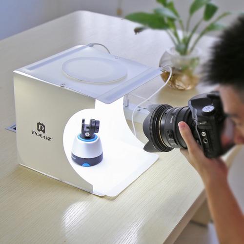 mini studio fotográfico portátil com 40 leds + 6 fundos
