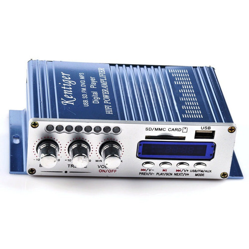 mini super bass amplificador hi-fi stereo 20+20 car radio fm