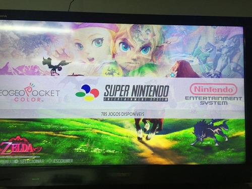 mini super super nintendo 4 controles 8 mil jogos.
