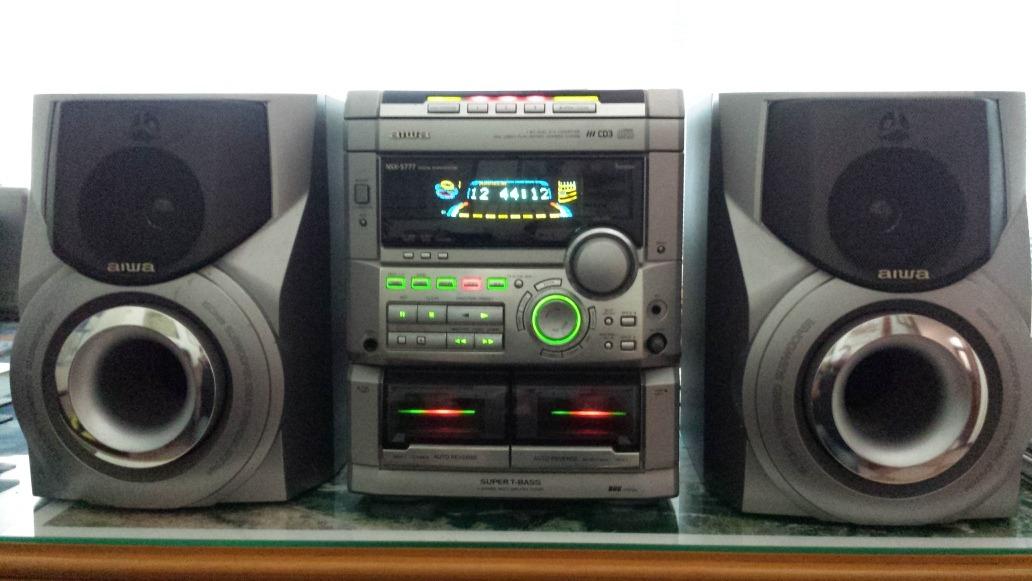 Mini System Aiwa Nsx S777 2400w R 450 00 Em Mercado Livre