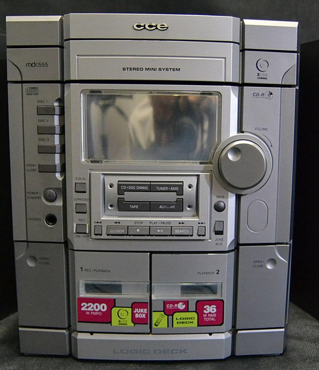 Superb Mini System Cce (3 Cdu0027s Duplo Deck) ...
