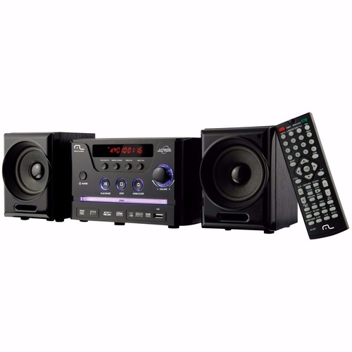 mini system com dvd multilaser sp141 30w rms rádio fm usb