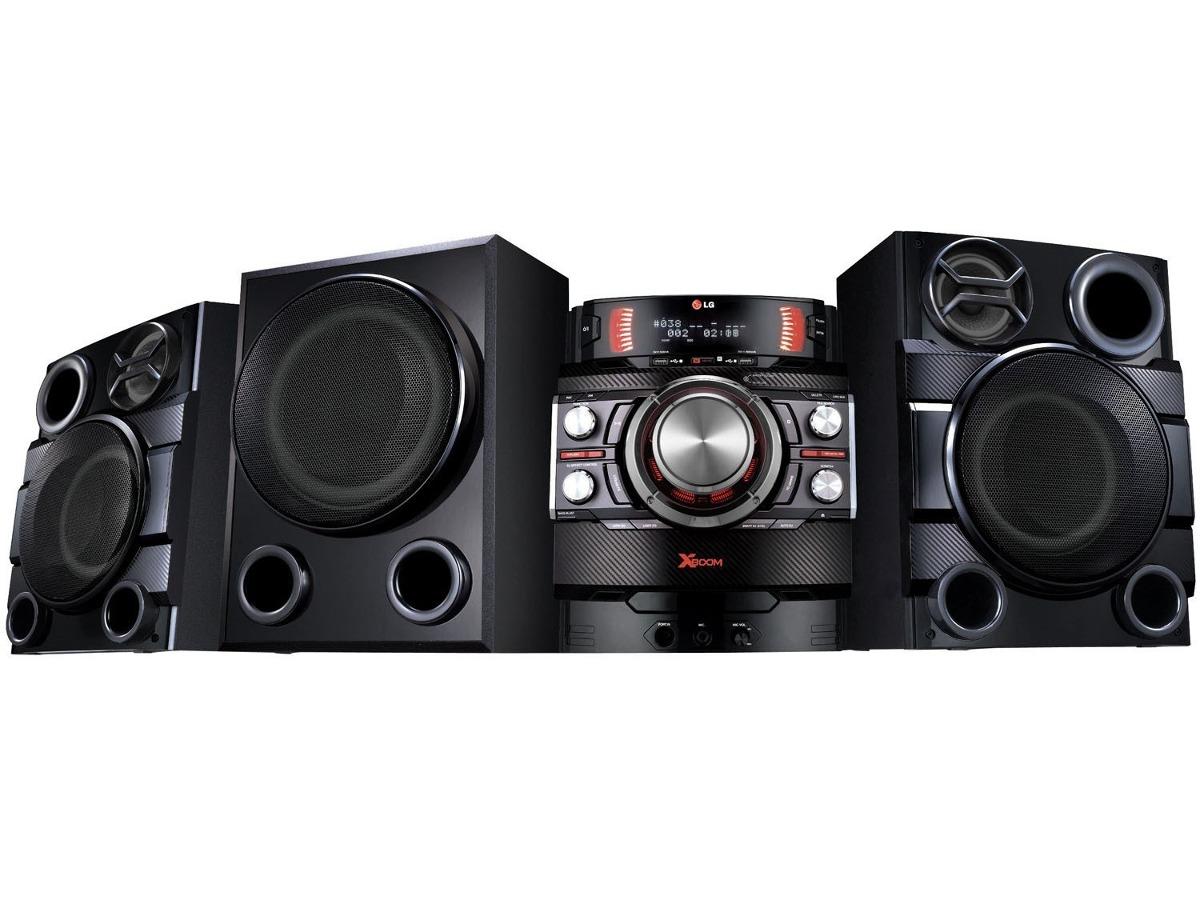 Mini System Lg Cm8440 Preto Cd Player R U00e1dio Am  Fm Dual Usb
