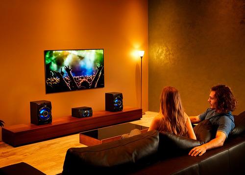 mini system mhc-m60d com dvd integrado, conexão hdmi arc, ef