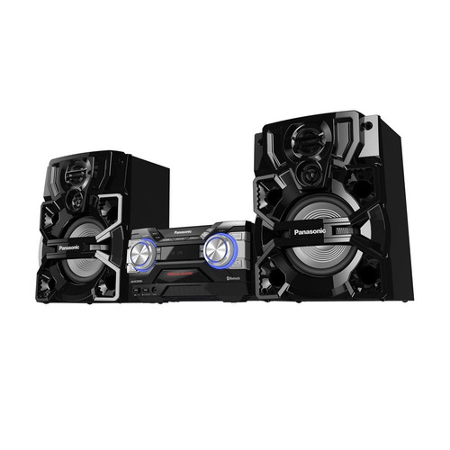 mini system panasonic sc-akx700lbk usb bluetooth 1800w rms