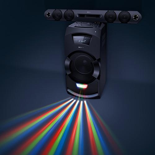mini system shakeflex mhc-gt3d djeffect, led multicolorido,