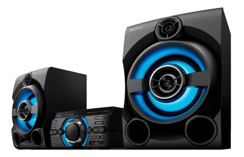 mini system sony mhc-m60d com bluetooth e modo futebol bivolt, preto