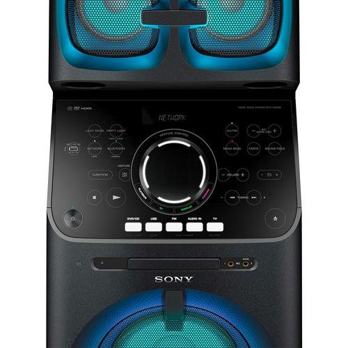 mini system sony muteki v90dw, tipo torre, wi-fi, spotify co